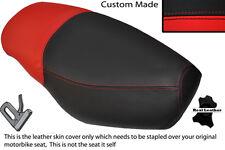 Negro Y Rojo Custom encaja Italjet fórmula 50 doble de piel cubierta de asiento solamente
