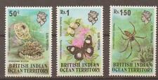 BRITISH INDIAN OCEAN TERR SG53/5 1973 WILDLIFE MNH