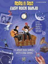 Easy Rock Banjo Sheet Music Just for Fun Series Banjo Book NEW 000322276