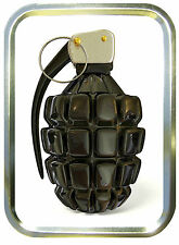 GRENADE. 2oz GOLD TOBACCO TIN, STASH CAN,BACCY TIN,BAIT TIN