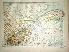1891 MAP ~ PROVINCE OF QUEBEC ~ GULF OF ST LAWRENCE RIVER LAWRENCE ETC