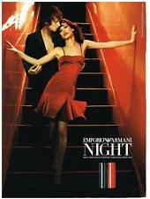 PUBLICITE ADVERTISING  2001   NIGHT    deux nouveaux parfums  EMPORIO ARMANI