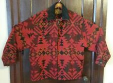 Woolrich Red Black Wool Aztec Jacket XL Mens Native American Rare Vintage