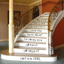 Family Wall Decal Quote Love Decals Stair Riser Vinyl Sticker Stairs Decor KY46