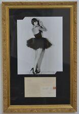 """Louise Brooks Signed Letter Set 38"""" x 25"""" Framed"""