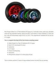 Genuine Prosport Evo 60mm Wideband AFR and sensor 4 colour with peak and warning