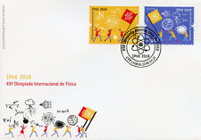Portugal 2018 FDC 49th Intl Physics Olympiad IPhO 2v Set Cover Science Stamps