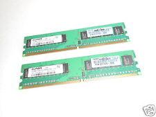 2X ELPIDA 512MB 1Rx8 PC2-5300U-555 DESKTOP MEMORY EBE51UD8AGWA-6E-E