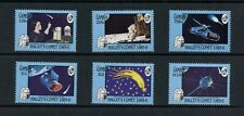R770  Gambia 1986  space Halley's Comet  6v.  MNH