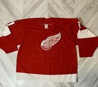 CCM Detroit Red Wings Sergei Fedorov Hockey Jersey - Mens XL Red Air Knit