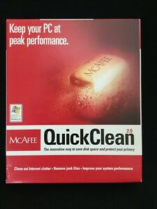 McAfee QuickClean 2.0 for PC•Improve Performance•Save Disk Space•Protect Privacy
