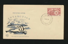 King Penguin Antarctica Souvenir Cover Australia 1957 Thermographed (Lot 1185)