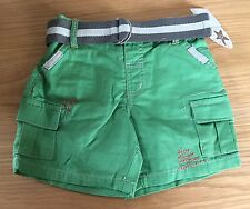 Baby Boys Green Adams Shorts Size 3-6 Months