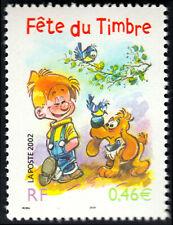 2002 FRANCE N°3467** BOULE ET BILL (Bandes dessinées) FETE DU TIMBRE MNH