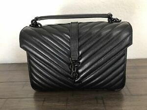 Ysl Yves saint Laurent 100 % authentic college monogram bag black