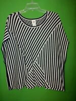 1763) CABI x-small XS loose fitting pullover cotton Siesta Poncho sweater XS