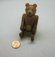 Vintage Fisher Price Little People BROWN BEAR Circus Train #991 #135 Rare Cute!