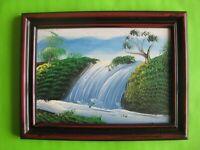 Tableau paysage asiatique - 18,5 x 12,5 cm - Cadre en plastique