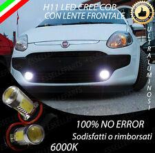 COPPIA LAMPADE FENDINEBBIA H11 LED CREE COB CANBUS PER FIAT PUNTO EVO 6000K