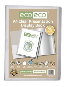 eco-eco A4 Size 50% Recycled 60 Pocket Presentation Display Book