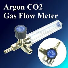 Argon CO2 Gas Flow Meter Welding Regulator Gauge Flowmeter 1/4PT 0.15MPA 7mm