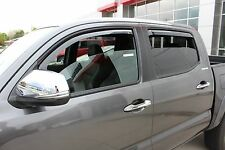 2016 - 2018 In-Channel Wind Deflectors for a Toyota Tacoma Double Cab