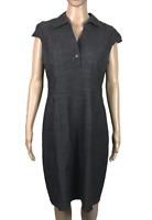 PORTMANS | Women's Sheath Dress | Collared V-Neck | Denim Look | Grey | Size 12