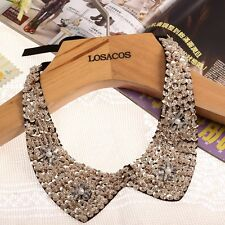 Hot Pearl beads Fake collar Choker statement Necklaces  with gold Sequin