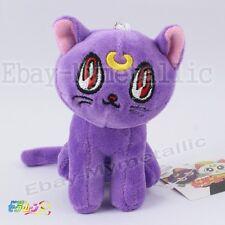 "Sailor Moon Chibiusa Purple Guardian Cat Diana 10cm/4"" Soft Plush Doll Size S"