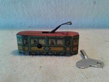 1920's CKO Kellerman Wind Up Trolley Electric Train Car Penny Toy Works New Key