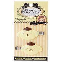 Pompom purin bangs Hair clip set kawaii Cute F/S NEW Sanrio Pompompurin ZJP