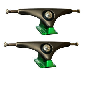 "Gullwing Longboard Trucks Charger Black/Green 10.0"" Axle (Pair)"