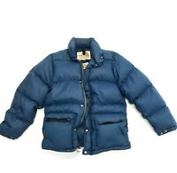 Vintage The North Face Down Puffer Jacket Mens XS Navy Blue