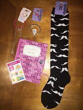 Claire's Owl Donut Mustache Socks Nerd Notebook Justce Stickers Elephant Lot