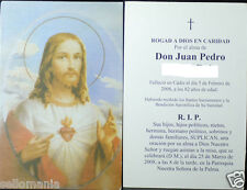 OLD BLESSED SACRED HEART OF JESUS HOLY CARD REMEMBERING DEATH ANDACHTSBILD CC793