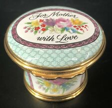Vintage Halcyon Days Enamels Mother's Day 1986 Trinket Box