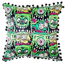 Sourpuss Monster Faces Cushion Pillow Homewares Rockabilly Gothic Tattoo Retro
