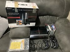 Sony Playstation 3 PS3 Console CIB CECHH01 Tested 40GB + 10 Games COD & More