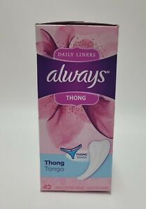 Always Daily Liners Thong 42 Count NEW