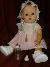 Large Vintage Molded Hair American Character Tiny Tears Baby Doll 20�
