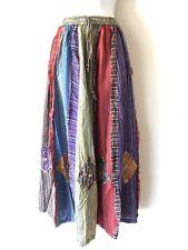 Gypsy Patchwork Hippie Bohemian Festival Cotton Skirt Dress Handmade Nepal S25