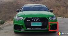 NEW GENUINE AUDI RS3 17-18 FRONT BUMPER LOWER LEFT N/S AIR VENT GRILL BLACK