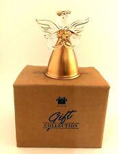 Avon Lot of 4 Gilded Glass Angel Ornaments In Original Boxes 1997 Ornament NIB