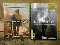 Xbox 360 Game Lot Of 2 Call Of Duty 2 Modern Warfare 2 & 4 Bundle