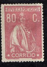 Portugal 298A Afi 248 80c Brn Rose Ordinary Paper MHR F/VF 1921 SCV $32.50