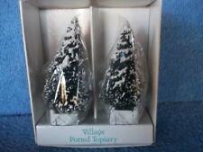 Dept.56 Village Potted Topiary Trees 51926 Nib More Dept 56 Listed