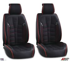 Black PU Leather & Fabric Front Seat Covers For Renault Megane Clio Kadjar