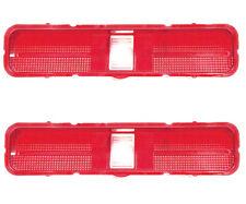1969 Pontiac GTO Tail Lamp Light Lens Red Pair Right & Left Side Dynacorn - 1596