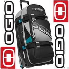 OGIO RIG 9800 TEAL BLOCK WHEELED MOTO-X MX ENDURO SKI KIT GEAR HOLD ALL BAG