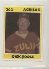 1987-88 Venezuelan Winter League Stickers Dick Poole #202